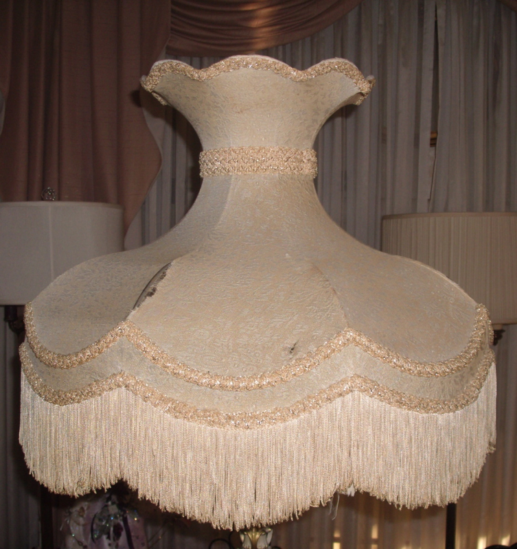 Lampshade Recovered Vintage Victorian Crown Shade