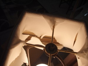 lampshade, deco, liner, brittle, replace, restore, shade, square