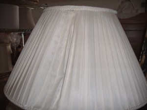 pleated, lampshade, westwood, cover, restore