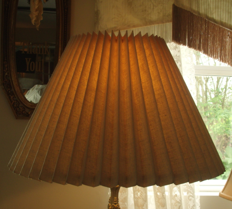 Knob creek accordion pleated lampshade restored replaced plastic lampshade accordion pleated restore replace liner vintage mozeypictures Images