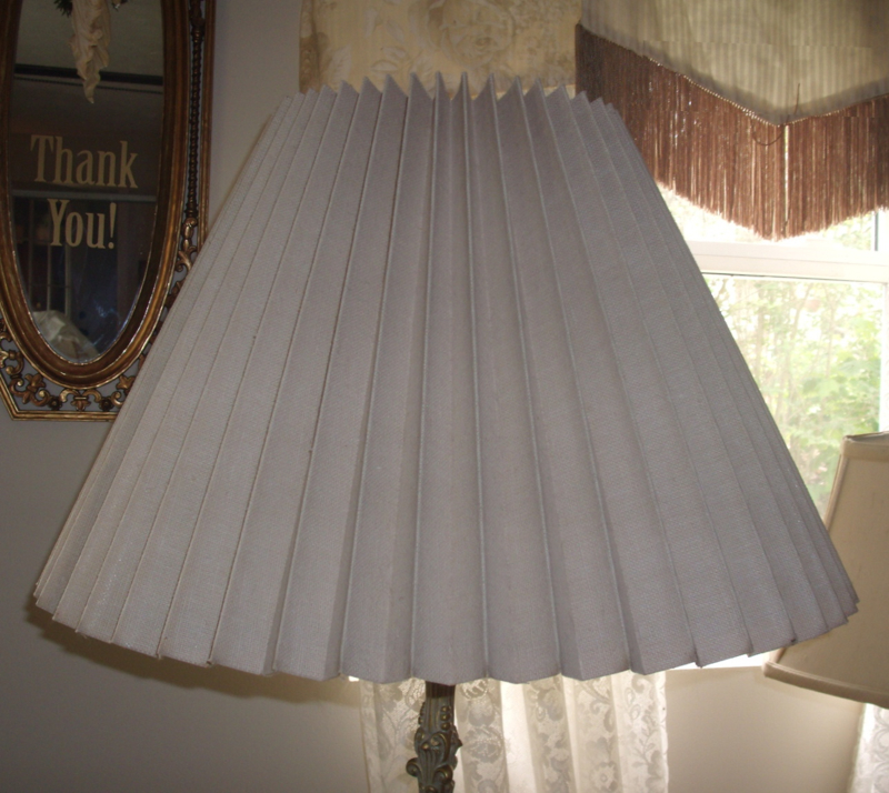 Knob Creek Accordion Pleated Lampshade Restored Replaced