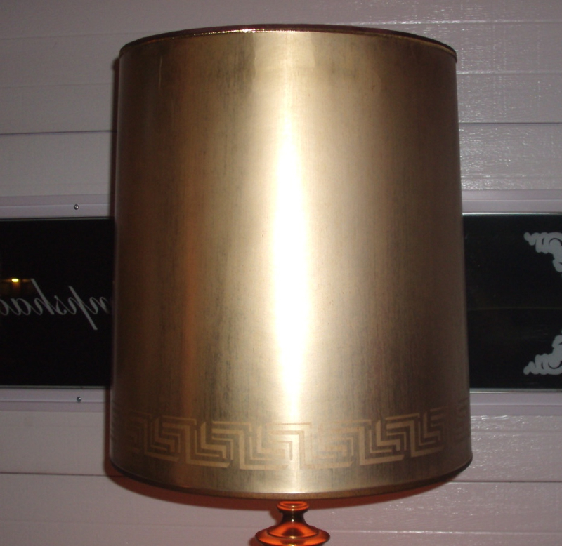 Stiffel Lampshade Vintage Antique Gold Cardboard Shade