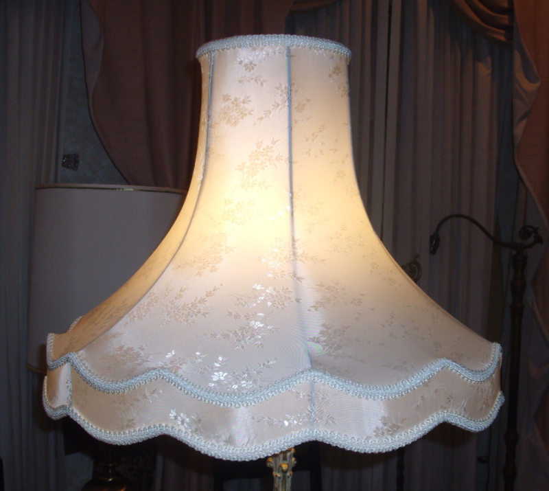 Lamp Shade Brocaide Liner Repair Restore