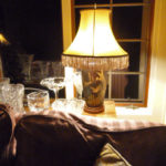 vintage, bell, lampshade, restored,
