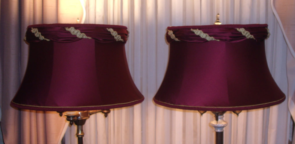 lampshades, bell, vintage, valance, floor, lamp, restore