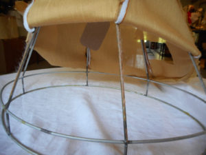 lampshade, damaged, adhesive, wire, restore