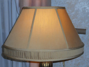 lampshade, original, gold, fabric, vintage, deco, shade