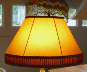 lampshade, restored, gold, lighting, deco, lamp, shade