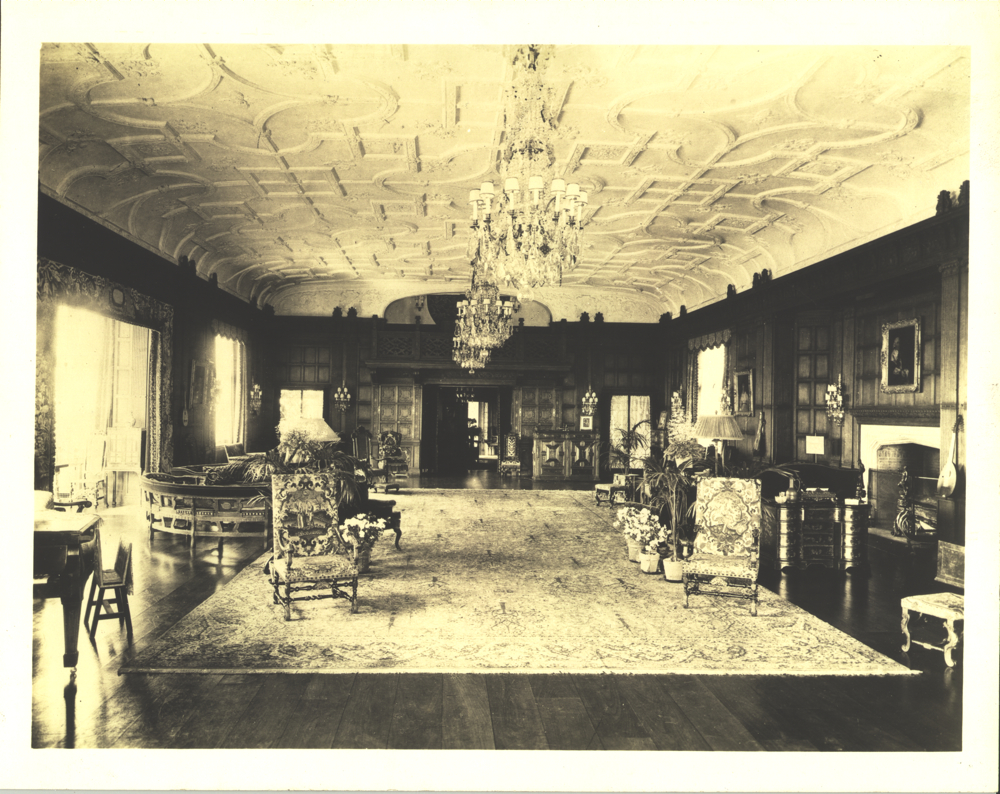 stan hywet, historic, music room, chandelier, restore, lampshades
