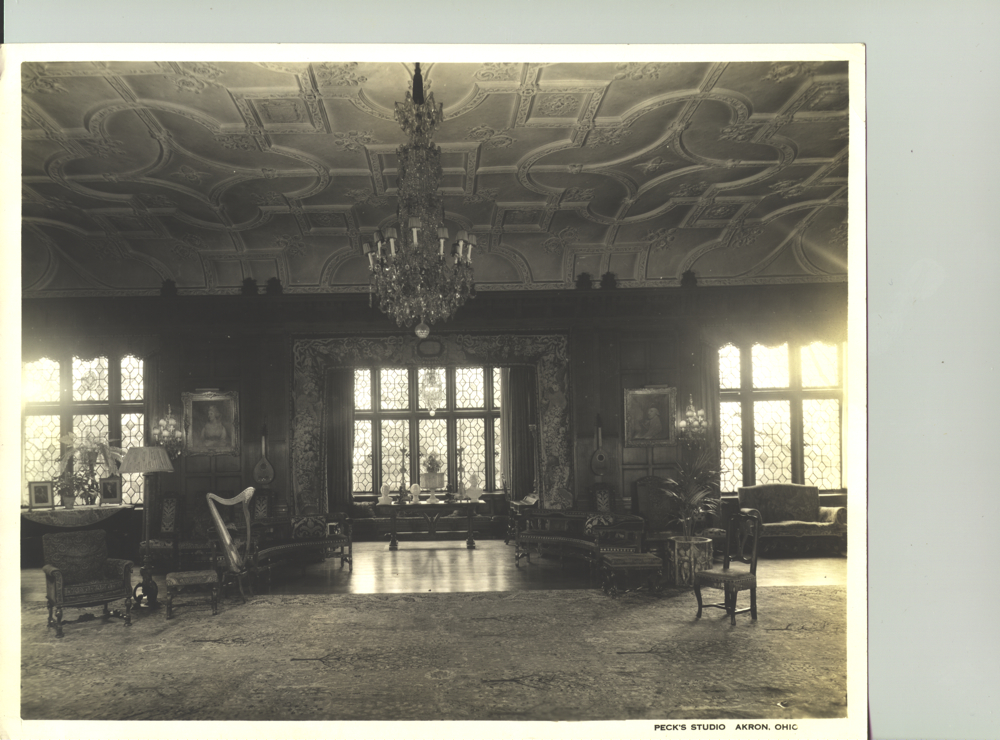 Stan Hywet 1930, Music Room, Chandelier, Restore Project, historic
