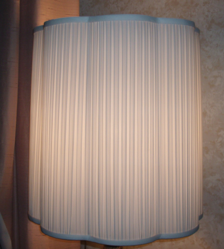Lamp Shade Pleated Liner Replace Re Scalloped Drum