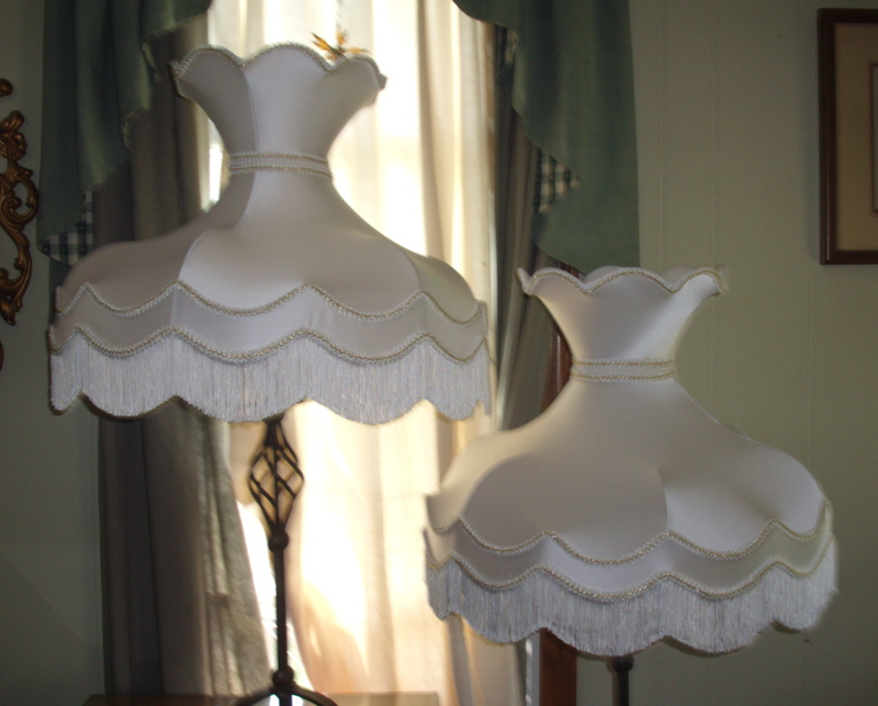 Victorian lampshades repaired restored lampshade repair victorian crown fringe restore mozeypictures Images