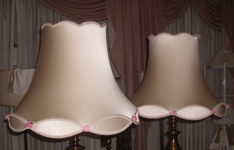 Victorian Lampshades Repaired Red
