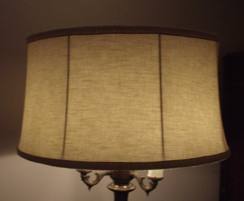 Fabric Shade Floor Lamp Red